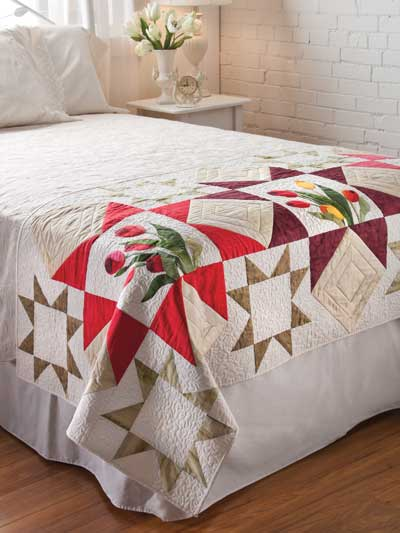 Quilting holiday seasonal patterns spring patterns for Bed quilting designs