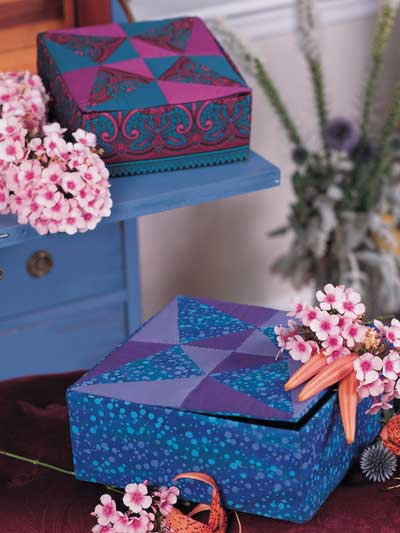 Quilted Treasure Boxes