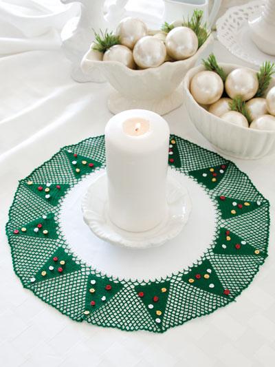 Crochet Pattern Central Christmas : Crochet - Christmas Tree Doily - #EC00940