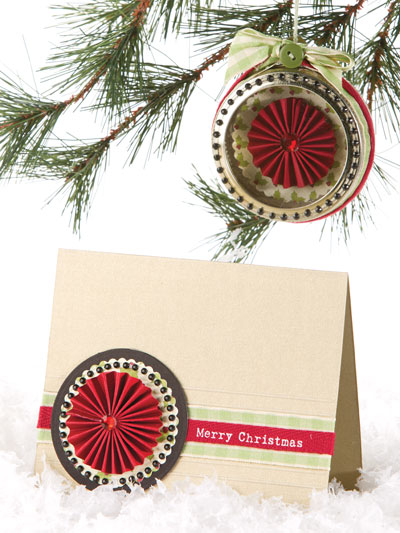 Christmas Medallions Card & Ornament