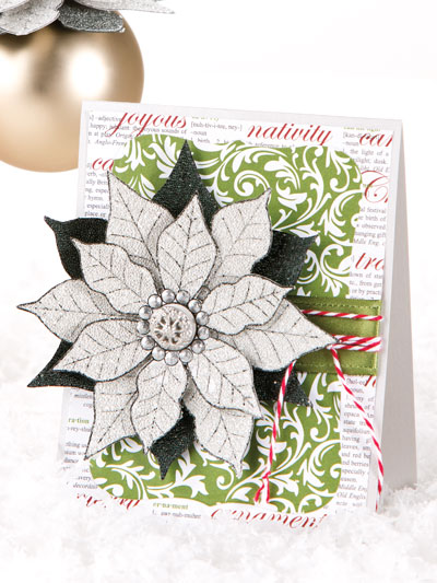 Frosted Poinsettia Holiday Duo