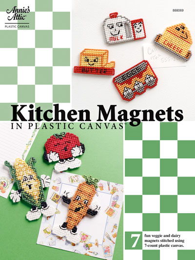 Kitchen Magnets in Plastic Canvas