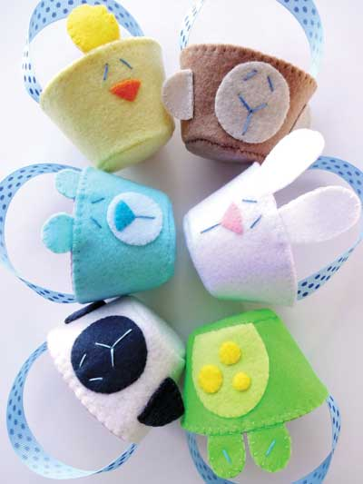 Felt Spring Animal Baskets