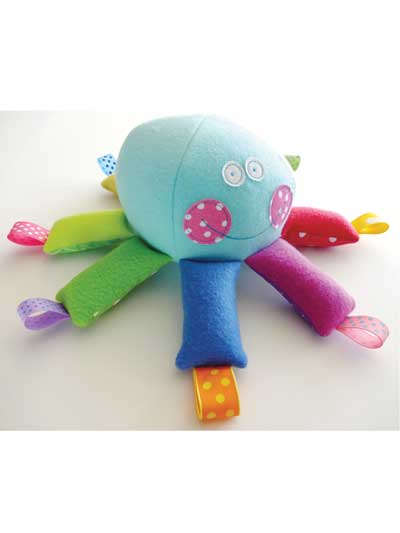Octopus Softie With Ribbons