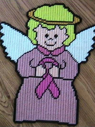 Angel With a Pink Ribbon