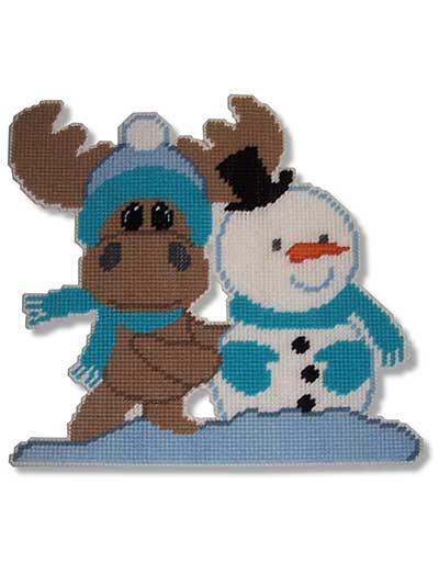 Plastic Canvas Moose Amp Snowman