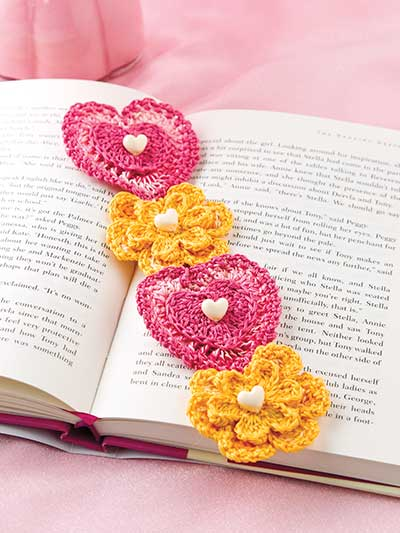 Hearts & Flowers Bookmark