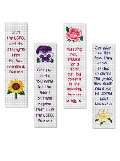 Flowers of Faith Bible Bookmarks