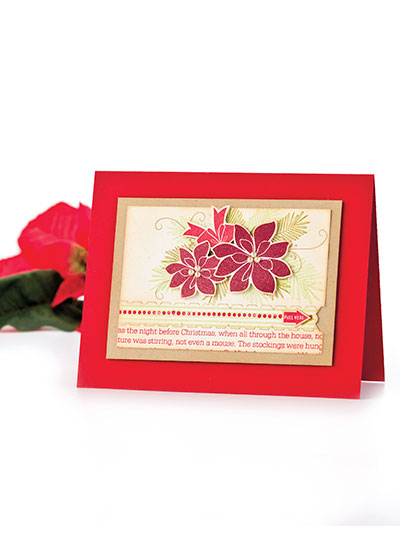 Poinsettia Zipper Card