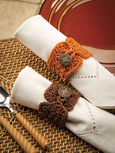 Buttoned Napkin Rings