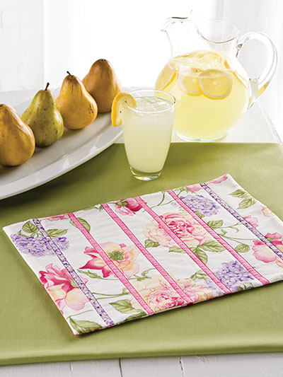 Strip-Pieced Place Mats