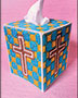 Mosaic Cross Tissue Box Cover