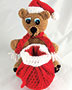 Holiday Santa Gift Bear