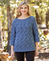 ANNIE'S SIGNATURE DESIGNS: Cabled Pullover Knit Pattern