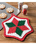 Christmas Star Pot Holder Crochet Pattern