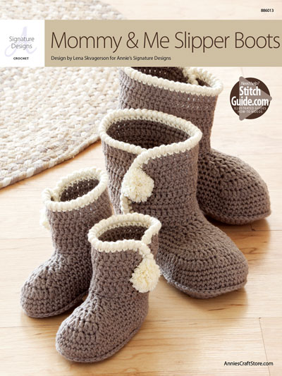 ANNIE'S SIGNATURE DESIGNS: Mommy & Me Slipper Boots Crochet Pattern
