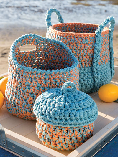 ANNIE'S SIGNATURE DESIGNS: Triad Baskets Crochet Pattern