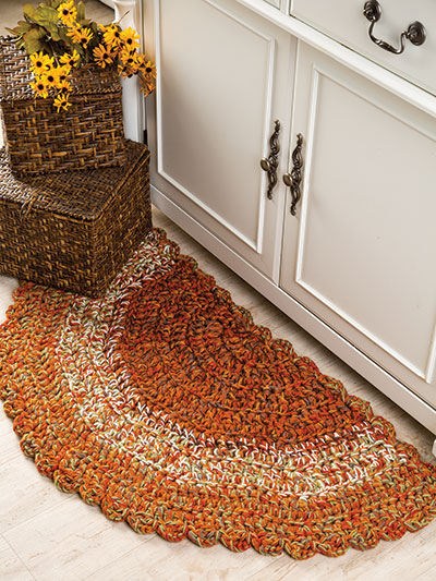 Autumn Hues Kitchen Rug Crochet Pattern