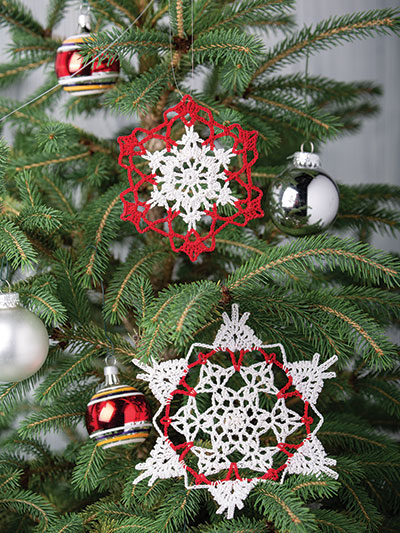 Crystal Snowflake Ornaments Crochet Pattern