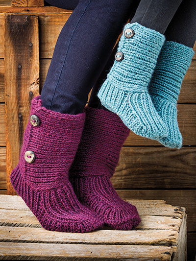 Snug Slippers Knit Pattern