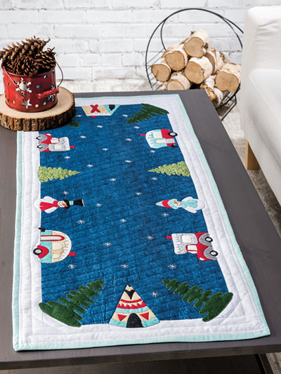 Campground Coffee Table Runner Quilt Pattern