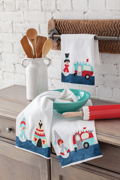 Camper Kitchen Towels Quilt Pattern