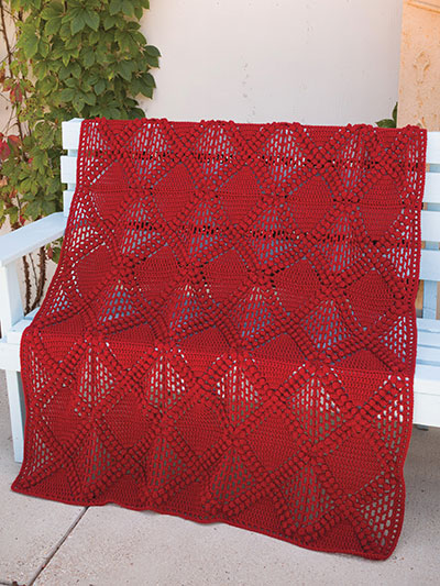 Crisscross Diamondback Crochet Blanket Pattern