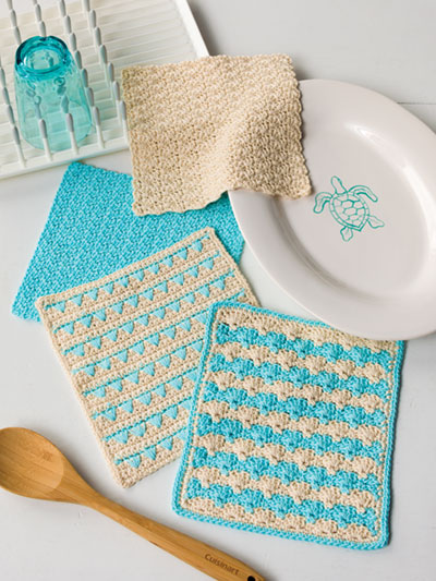Sandy Shells Dishcloth Set Crochet Pattern