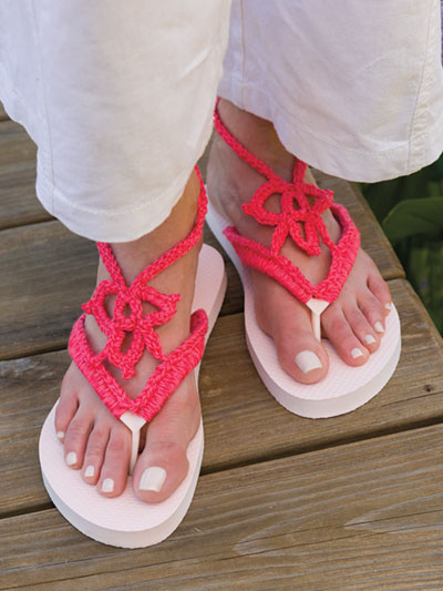 Welcome Spring Flip-Flops Crochet Pattern