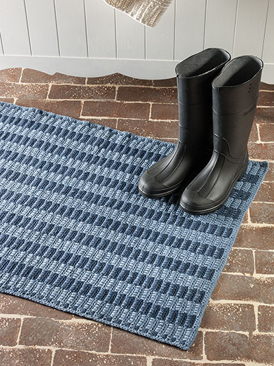 Woven Stripes Denim Rug Crochet Pattern