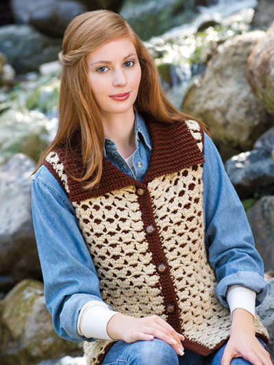 Padded Reversible Vest Crochet Pattern
