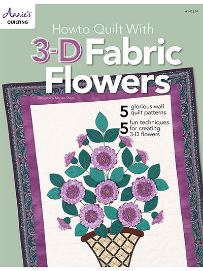 How to Quilt With 3-D Fabric Flowers