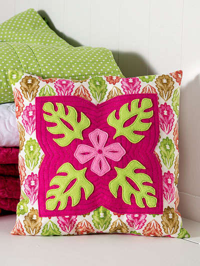 Tropical Flower Pillow Quilt Pattern