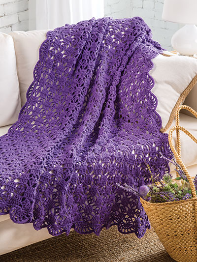 On-Point Lace Throw Crochet Pattern