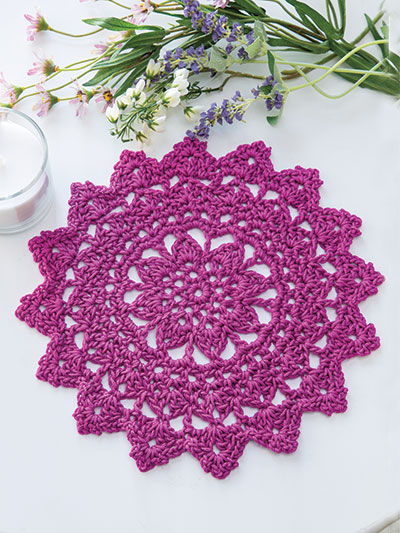 Berry Delight Doily Crochet Pattern