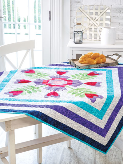 Hearty Blooms Quilt Crochet Pattern