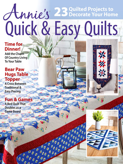 Annie's Quick & Easy Quilts Crochet Pattern