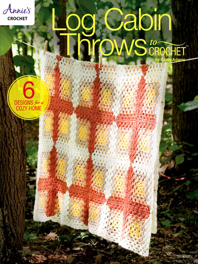 Log Cabin Throws to Crochet Pattern