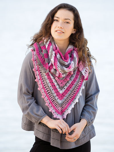 Notes in the Garden Shawl Crochet Pattern