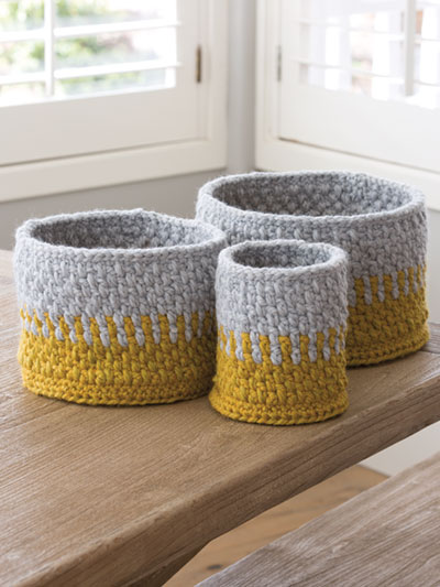 Into the Woods Baskets Crochet Pattern