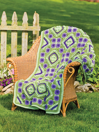 Purple Passion Afghan Crochet Pattern