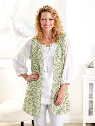 Long & Lacy Vest Crochet Pattern