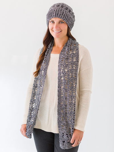 Lace Hat & Scarf Crochet Pattern