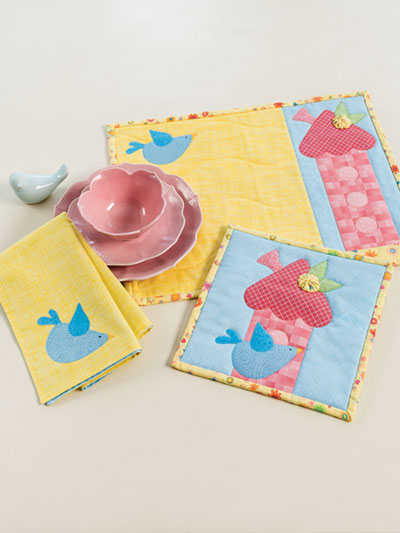 EXCLUSIVELY ANNIE'S QUILT DESIGNS: Home Tweet Home Kitchen Set Pattern