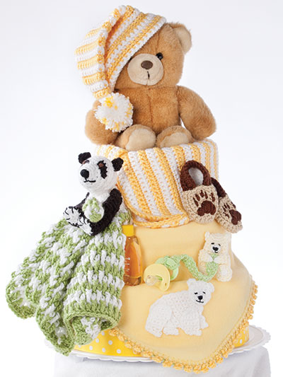 Bear and Bear and Bears Oh My Diaper Cake