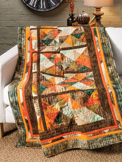 EXCLUSIVELY ANNIE'S QUILT DESIGNS: Northwoods Sunset Quilt Pattern
