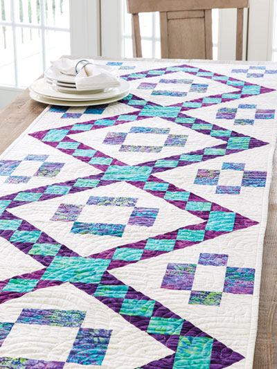EXCLUSIVELY ANNIE'S QUILT DESIGNS: Batik Jewels Table Runner Pattern