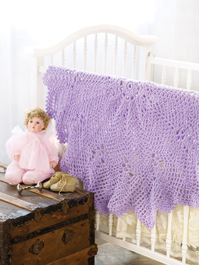 Lacy Ripples Babyghan Crochet Pattern