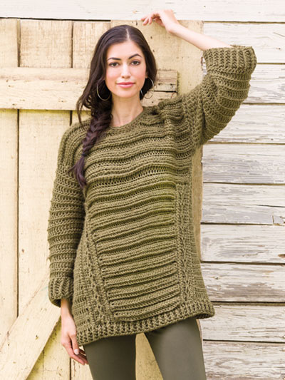 Oversize Run-Around Sweater Crochet Pattern