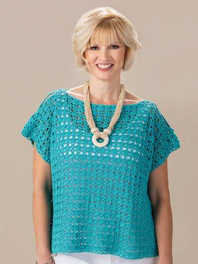 Flirty Shells Top Crochet Pattern